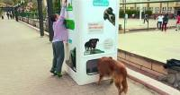 對待流浪動物可以更友善 寶特瓶回收販賣機