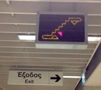 生活科技:希臘雅典捷運最棒的標示