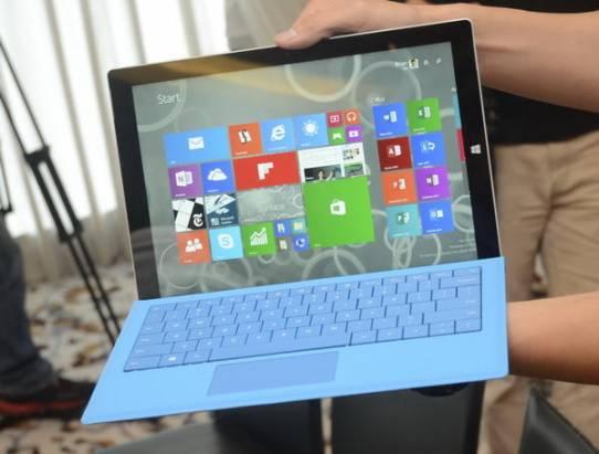 Computex 2014:微軟Surface Pro 3也在此時準備進入台灣,要價近2萬5起