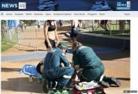 遙控拍攝直升機疑被駭 失事擊傷運動員