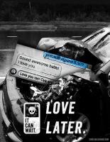 【廣告設計】「稍微等一下沒關係」安全駕駛廣告:不要開車一邊用手機