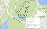 Google 地圖有趣新玩意: 任意畫線 找出現實的長度