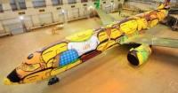 戰意超強!波音737客機化身巴西足球隊專機