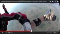 跳傘半空被撞,失去知覺!頭頂相機拍攝接下來的畫面……