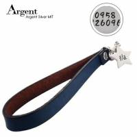 【ARGENT銀飾】名字訂製吊牌系列「星星造型 雙面刻字 」純銀吊牌+真皮吊繩 含吊繩 五色挑選