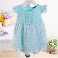 魔法Baby ~KUKI小公主套裝粉綠系 洋裝+褲子 ~童裝~女童裝~時尚設計童裝~k22117