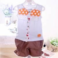 魔法Baby ~無袖蕾絲上衣 短褲~童裝~女童裝~時尚設計童裝~k03263