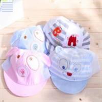 魔法Baby ~超可愛造型小童帽 藍白條紋 ~兒童帽~時尚設計童裝~k22209