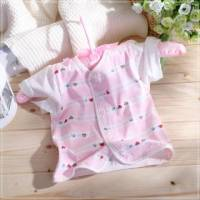 魔法Baby ~短袖前全開扣居家上衣 粉紅 ~童裝~女童裝~時尚設計童裝~k03287_p