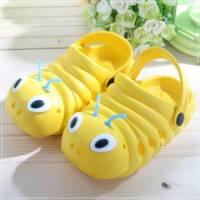 魔法Baby ~知名品牌 KUKI 酷奇毛毛蟲輕便鞋 黃 ~男女童鞋~時尚設計童鞋~s5997
