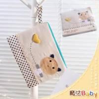 魔法Baby~裝小筆電 ipad 平版電腦貓咪拼布包 卡其 藍圓點 ~生活用品~時尚設計~f0085