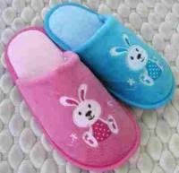 e鞋院 【HAPPY兔】絨毛兒童室內拖鞋