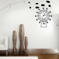 【Smart Design】創意無痕壁貼◆摩天輪時鐘 8色可選 含時鐘機芯