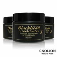【韓國 CAOLION】去黑頭氧氣泡沫面膜(50g*3瓶