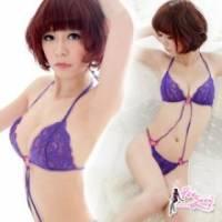 《Fee Sexy》幻夢誘惑 蕾絲連身情趣睡衣 紫 -