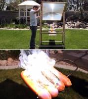 想烤肉不用自己生火,跟太陽借點光和熱