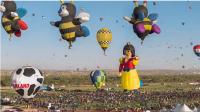 以縮時攝影來呈現所拍的世上最大熱氣球節
