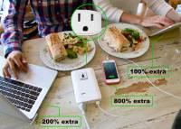 世界最小隨身可用電源插座的行動電源,也難怪號稱可以充所有電器產品