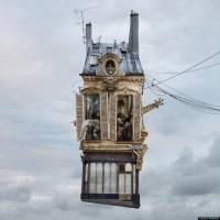 超現實風格的飛天小屋 Flying Houses