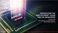 AMD ARM 伺服器處理器終於登場,正式推出 Opteron A1100 系列