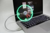 最涼的時鐘與最酷的風扇-USB LED Fan Clock