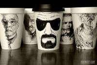 將不到1元的保麗龍杯,巧手變成上萬身價的藝術保麗龍杯