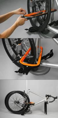 可鎖車可置物的新潮單車鎖